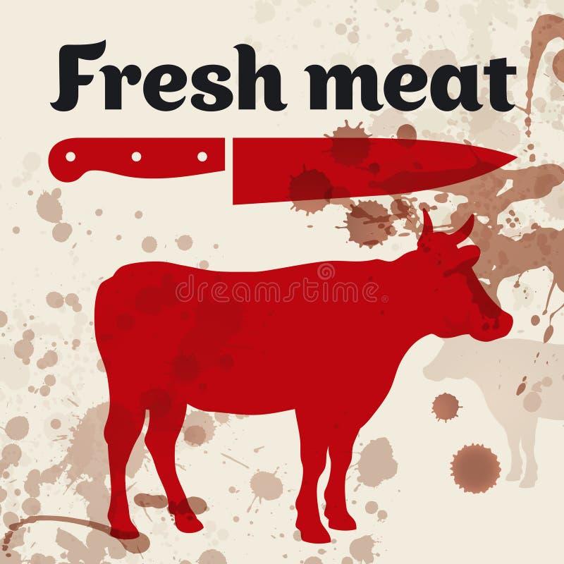 Świeży mięso, wołowina ilustracji