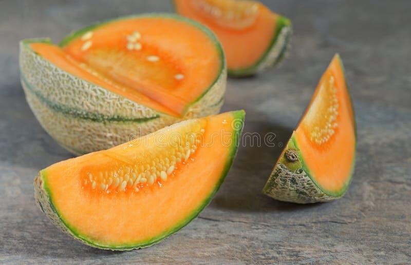 Świeży miodunka melon obrazy royalty free