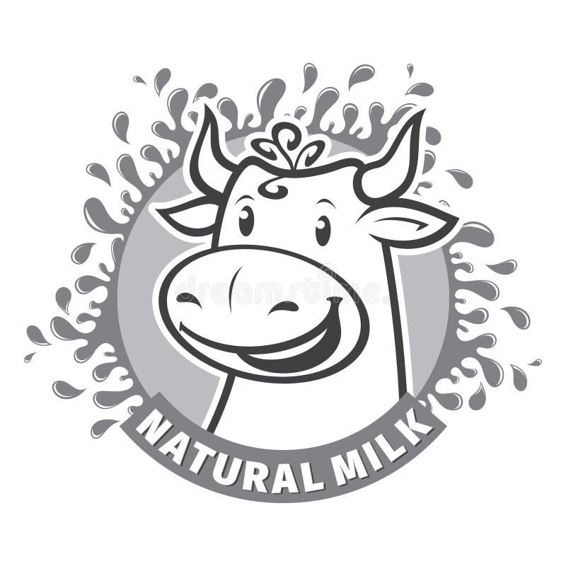 Świeży naturalny dojny emblemat royalty ilustracja