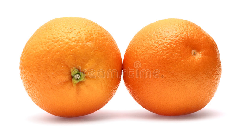 świeży odosobniony pomarańczowy biel zdjęcie royalty free