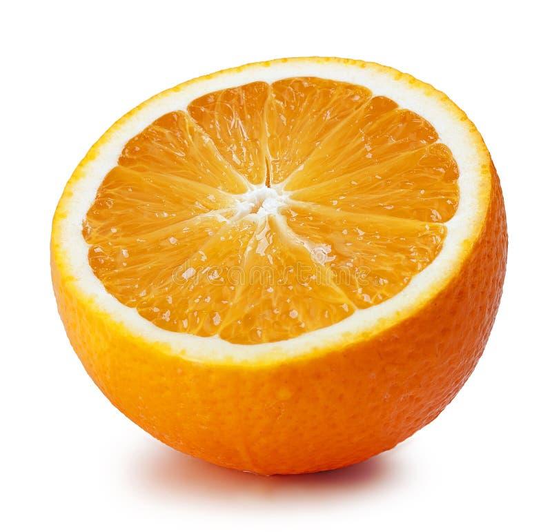 świeży odosobniony pomarańczowy dojrzały biel obrazy stock