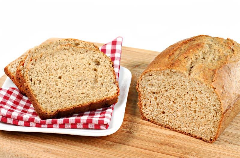 świeży piec bananowy chleb obrazy stock