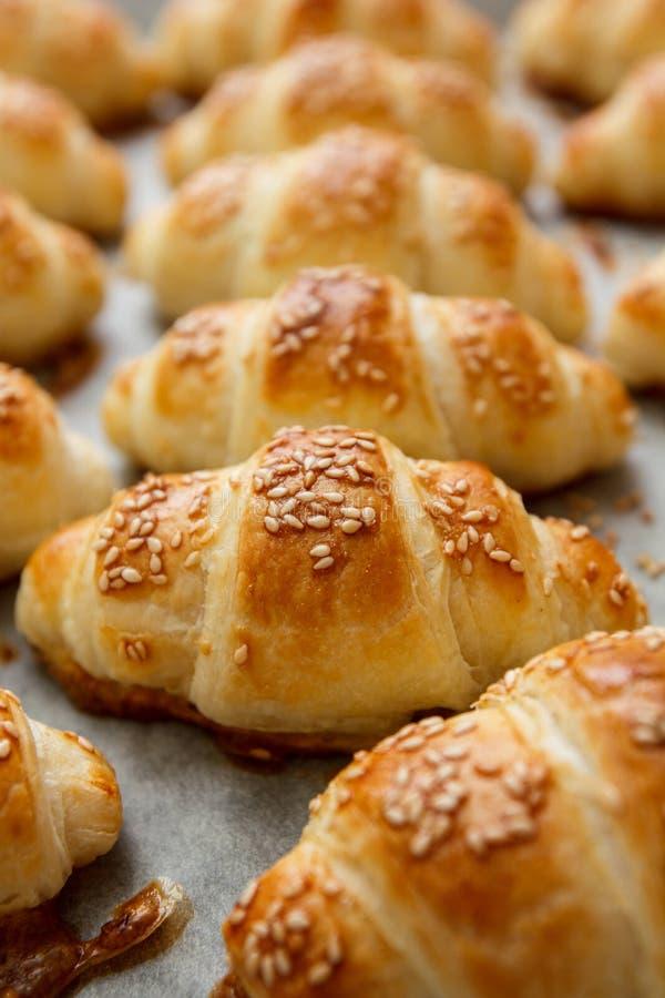 Świeży Piec Croissant Domowej roboty zdjęcia stock