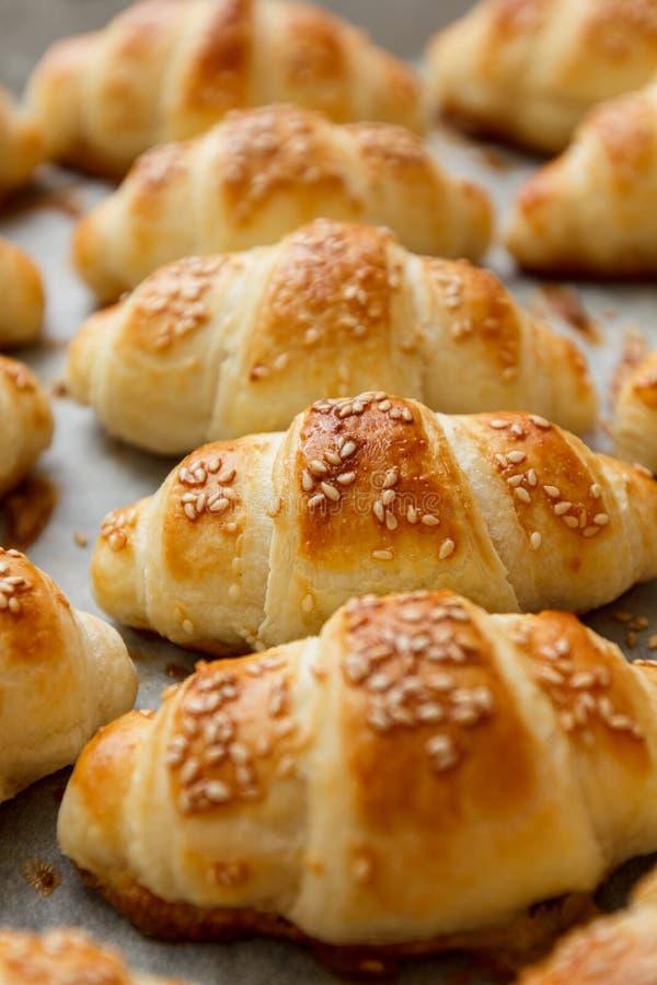 Świeży Piec Croissant Domowej roboty fotografia stock