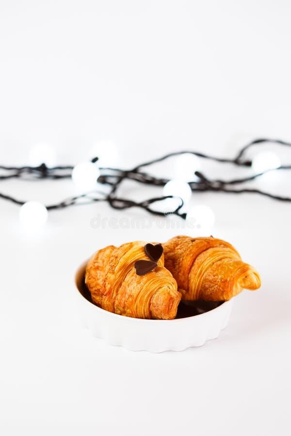 Świeży piec smakowity croissant fotografia stock
