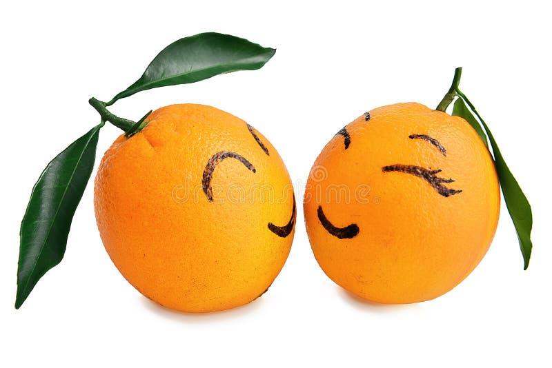 Świeży pomarańczowy wyrażenie kochankowie kreskówka, Kreatywnie plakat, walentynek walentynek małżeństwo poślubiający poślubia śl obraz royalty free