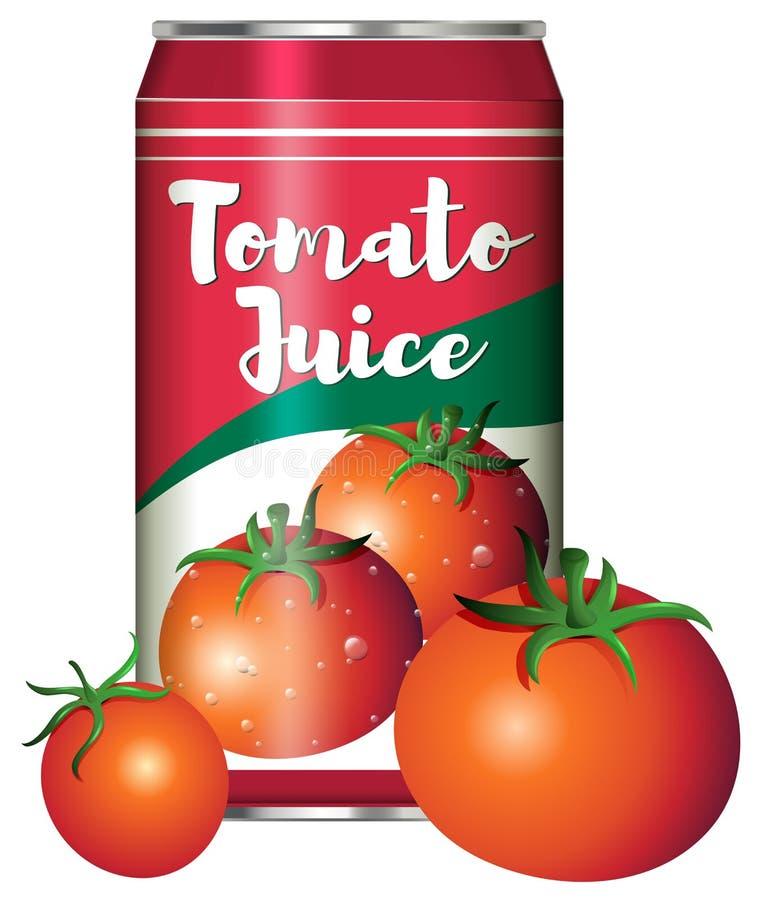 Świeży pomidorowy sok wewnątrz może ilustracja wektor