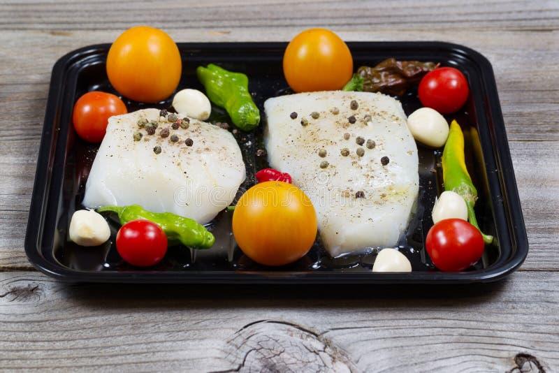 Świeży Rybi Przepasuje gotowego gotować obrazy stock