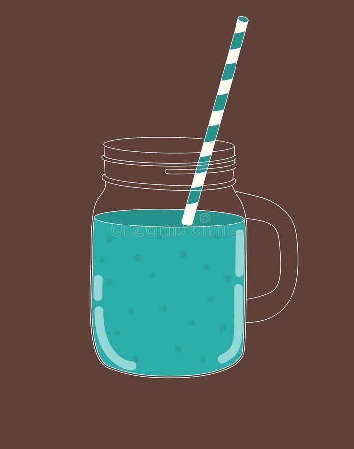 świeży smoothie zdrowa żywność również zwrócić corel ilustracji wektora ilustracji