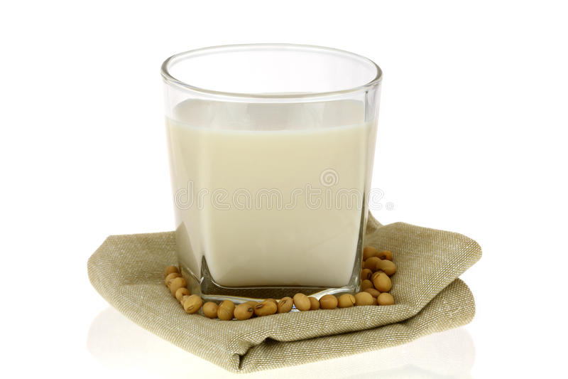 Świeży soi mleko mleko, Soya (soi,) fotografia royalty free