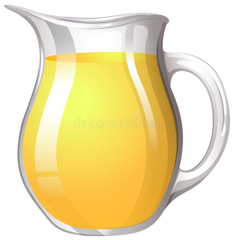 Świeży sok w dużym słoju ilustracji
