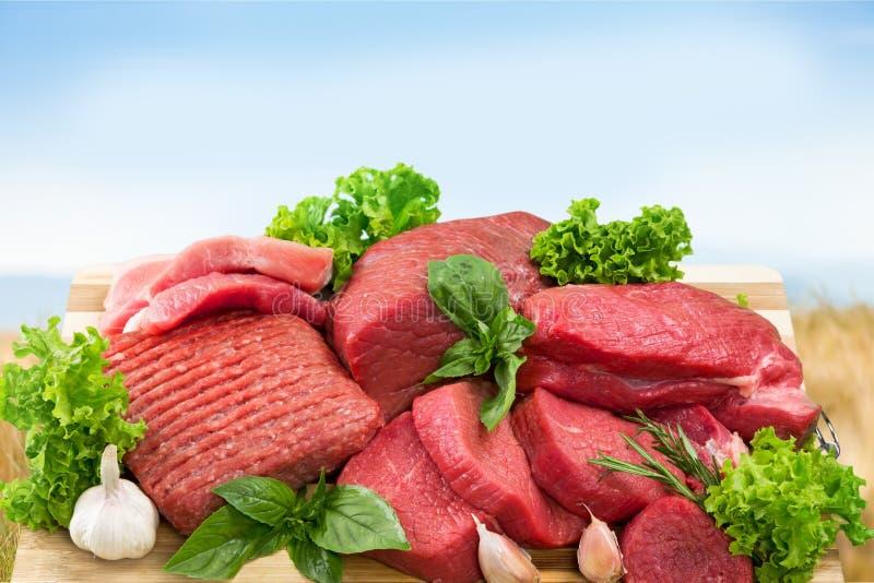 Świeży Surowego mięsa tło na tle obrazy royalty free