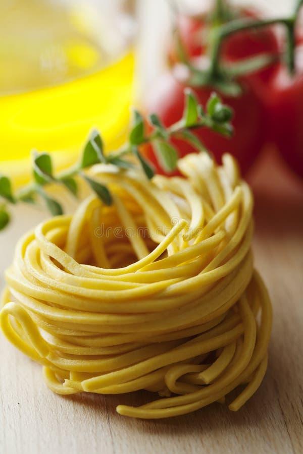 Świeży włoski tagliatelle makaron zdjęcie royalty free