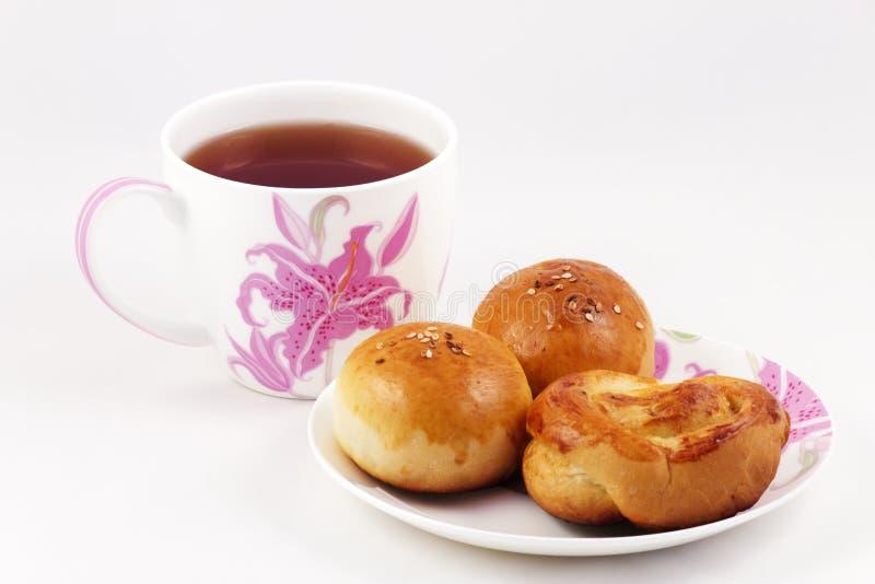 Świeży wsad z filiżanką herbata zdjęcie stock