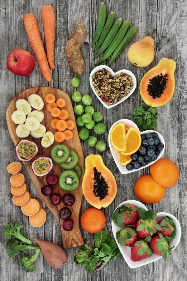 Świeży Wysoki włókien zdrowie jedzenie zdjęcia royalty free