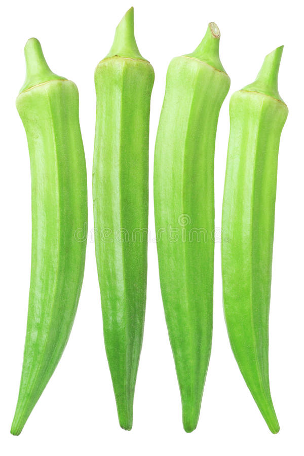Świeży zielony okra fotografia royalty free