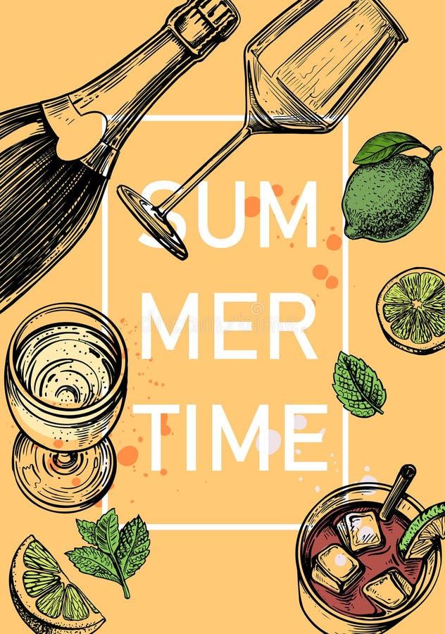 Świeży zimny lato napój kola ilustracja wektor