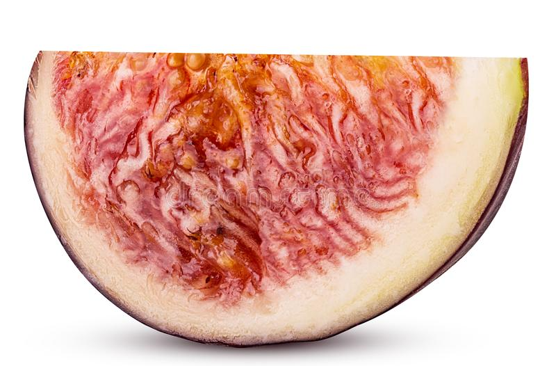Świeżych fig owocowy plasterek zdjęcia royalty free