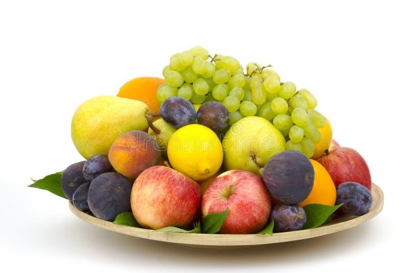 świeżych owoców płytki fotografia stock