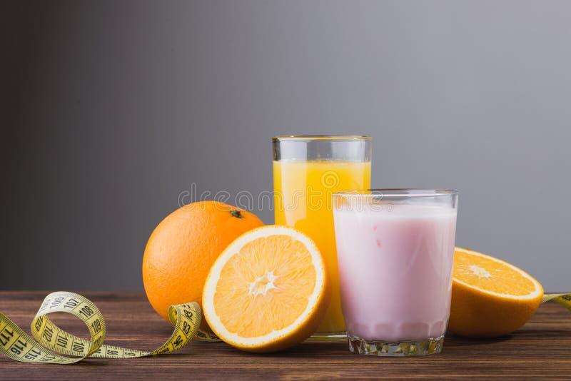 świeżych owoc soku pomarańcze obraz stock
