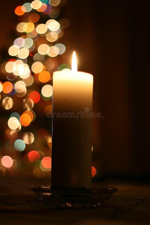 świeca świąteczne lampki zdjęcie royalty free