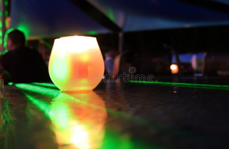 świeca romantyczna obraz stock