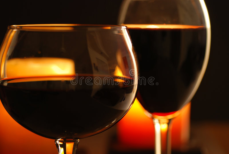 świece 2 wina fotografia royalty free