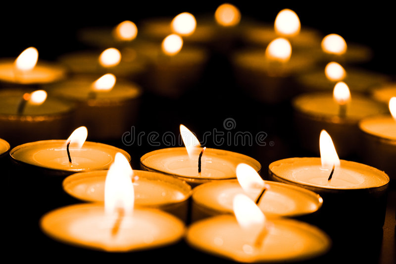 świece. obraz stock