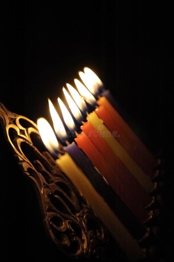świece chanuka zdjęcia royalty free