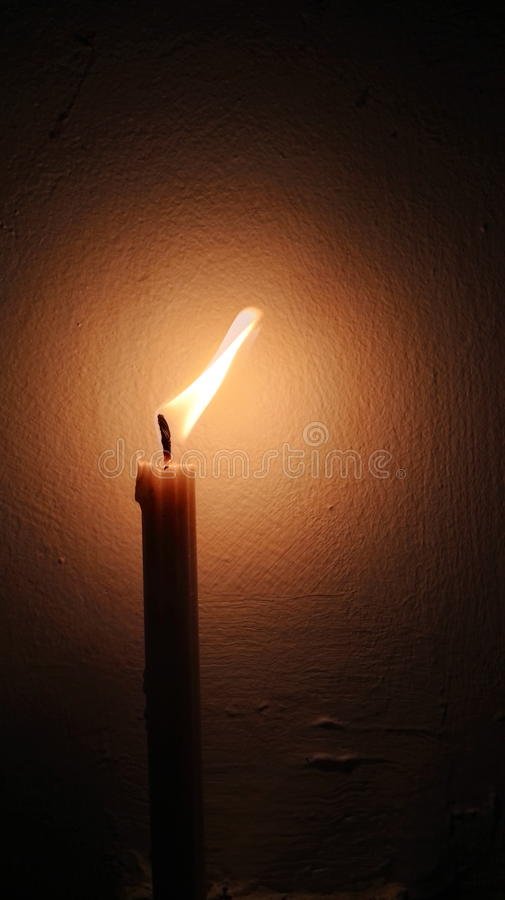 Świeczka światło obraz royalty free