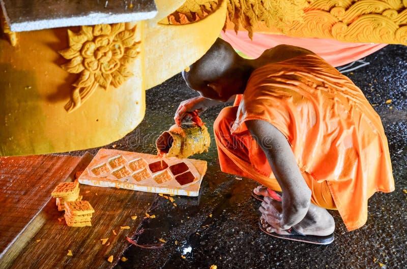 Świeczka festiwal roczny festiwal Nakhon Ratchasima obrazy stock