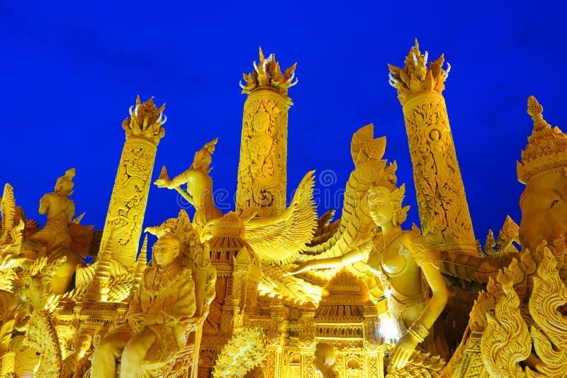 świeczka festiwal Thailand obraz royalty free