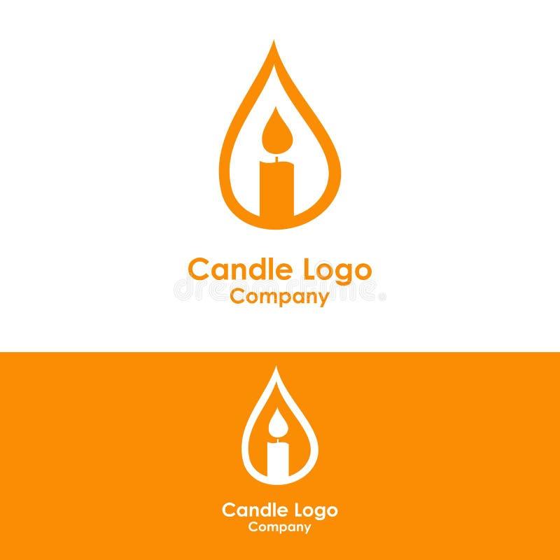świeczka logo szablon, projekta wektor, ikona ilustracja wektor
