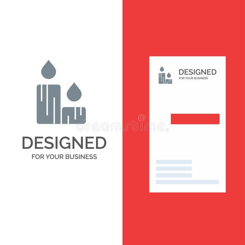 Świeczka, ogień, wielkanoc, natura logo Popielaty projekt i wizytówka szablon, ilustracja wektor