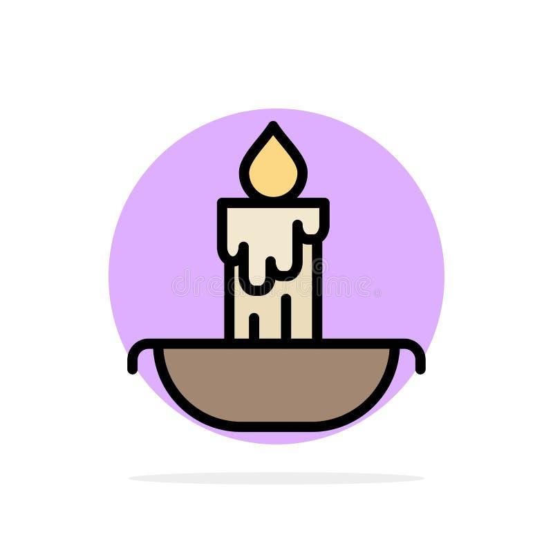 Świeczka, ogień, wielkanoc, Wakacyjnego Abstrakcjonistycznego okręgu tła koloru Płaska ikona ilustracji