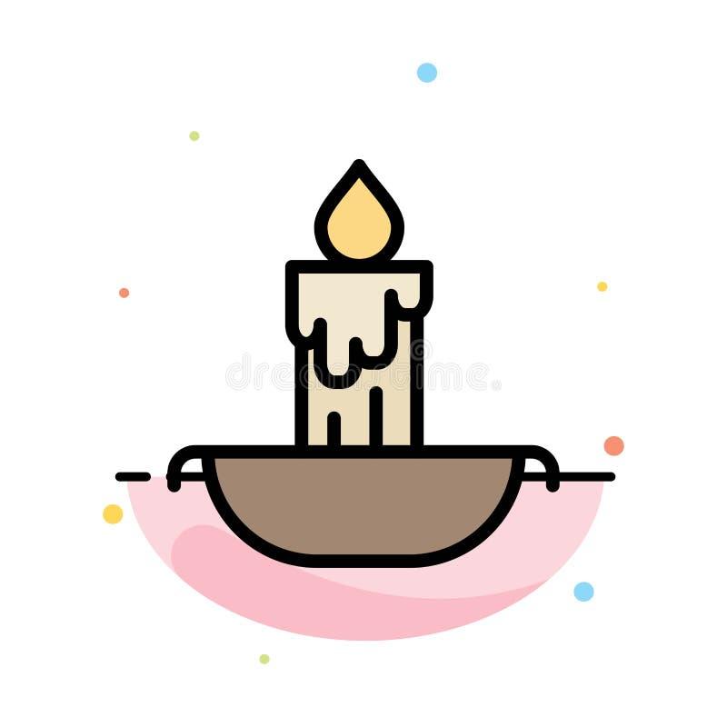 Świeczka, ogień, wielkanoc, Wakacyjny Abstrakcjonistyczny Płaski kolor ikony szablon ilustracja wektor