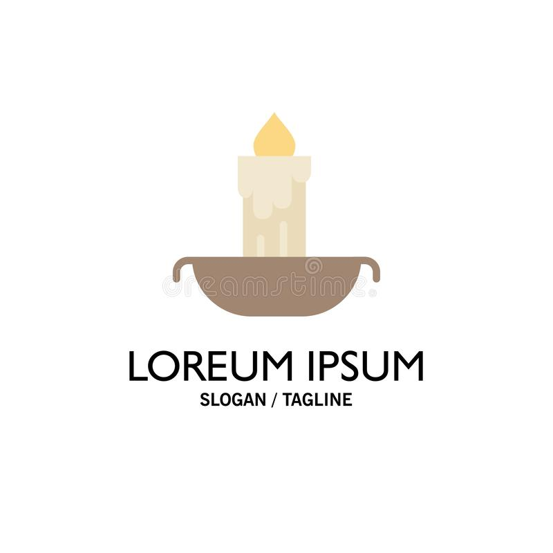 Świeczka, ogień, wielkanoc, Wakacyjny Biznesowy logo szablon p?aski kolor ilustracji