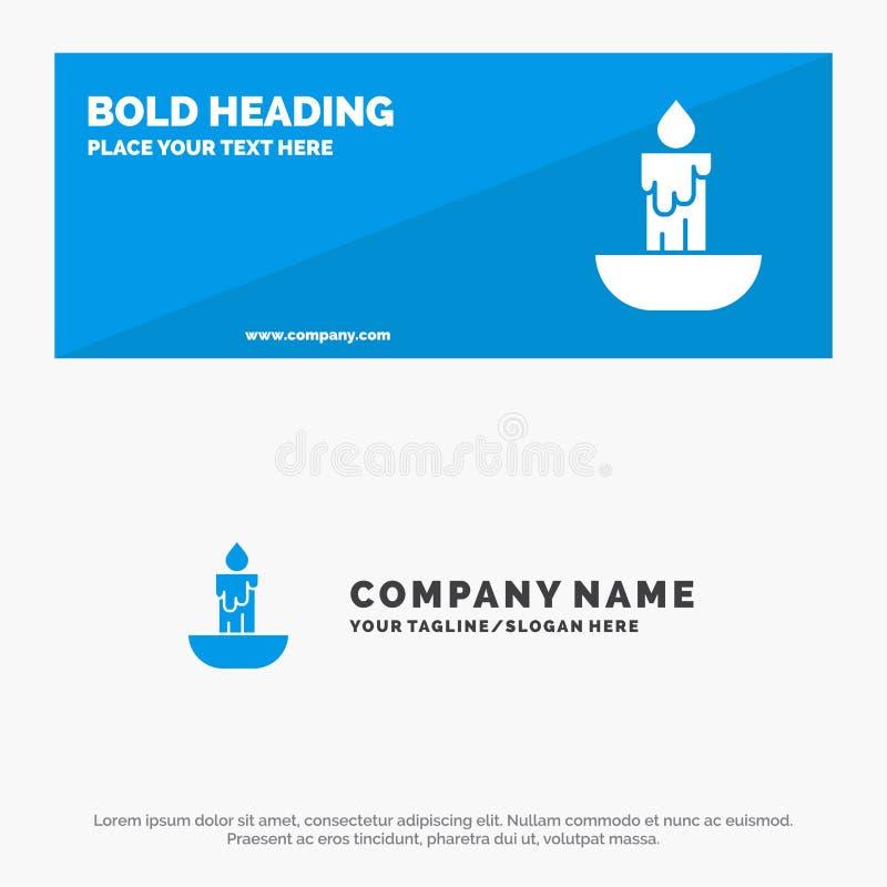 Świeczka, ogień, wielkanoc, Wakacyjny stały ikony strony internetowej sztandar i biznesu logo szablon, ilustracji