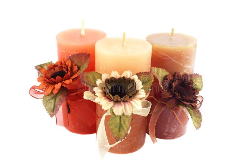 świeczka trzy zdjęcie royalty free