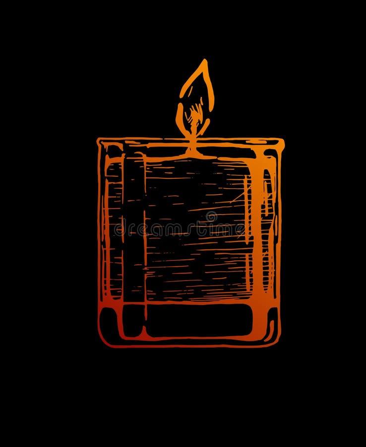 Świeczka w szkle royalty ilustracja