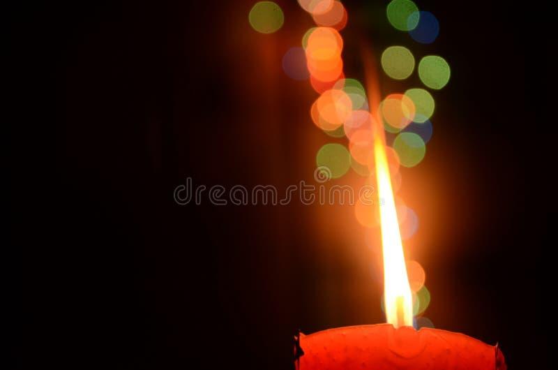 Świeczki światło z przestrzenią fotografia royalty free
