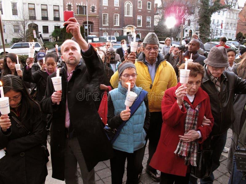 świeczki ambasady Haiti lekki czuwanie obraz stock