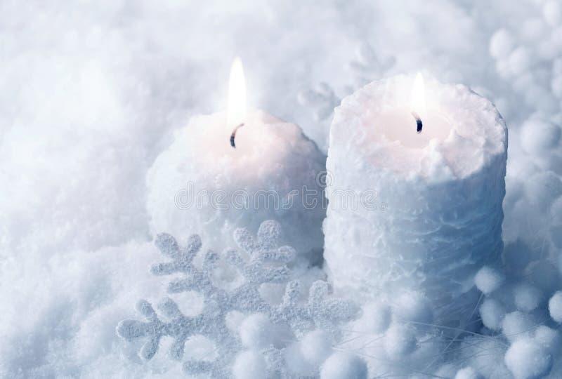 świeczki biały zdjęcie stock