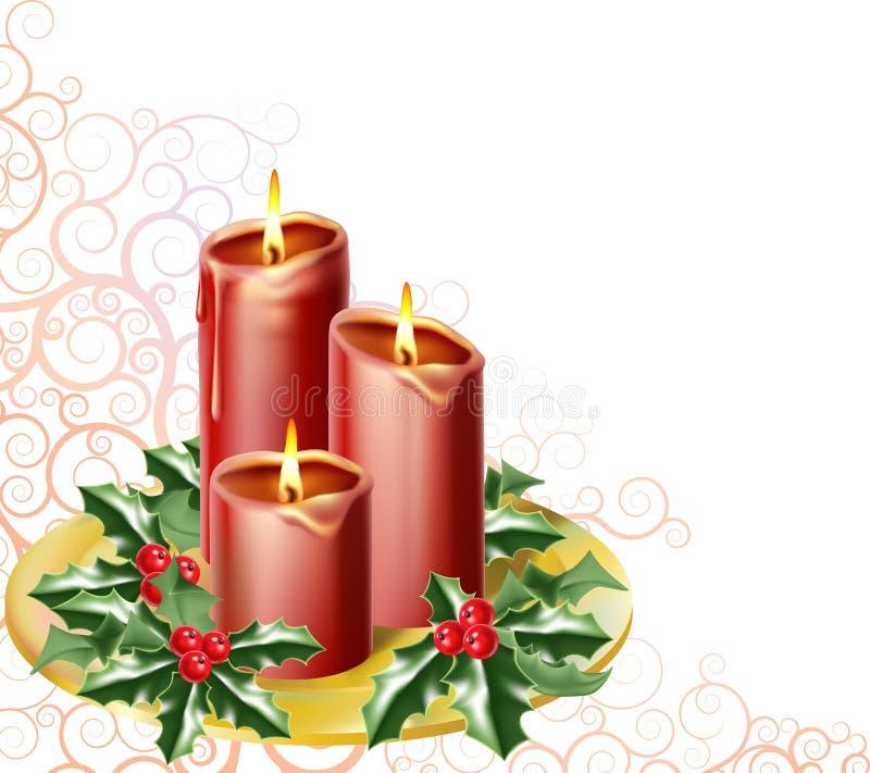 świeczki boże narodzenie ilustracji