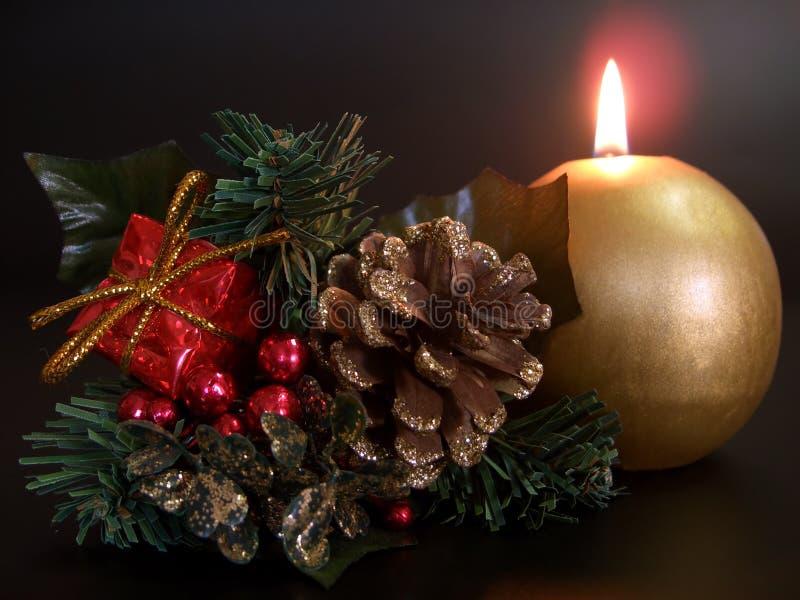 świeczki bożych narodzeń dekoraci drzewo zdjęcie stock