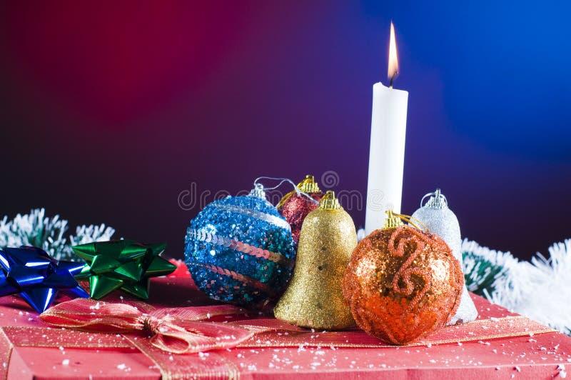świeczki bożych narodzeń ornamenty zdjęcie royalty free
