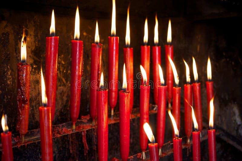świeczki czerwone obraz stock