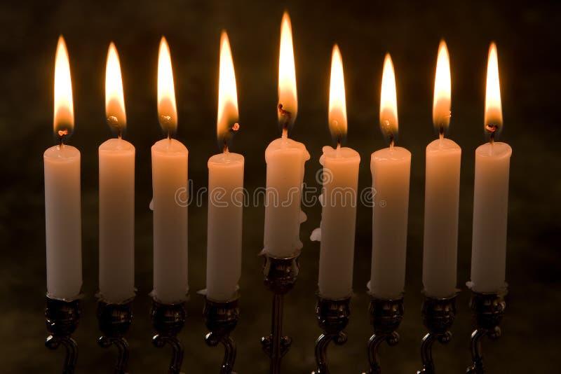 świeczki dziewięć obrazy stock