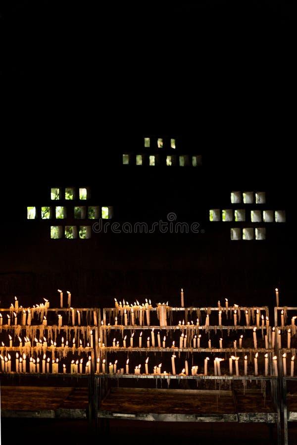 Świeczki gothic światło i zmroku obrazy stock