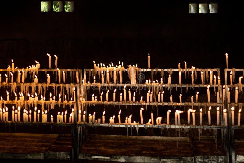 Świeczki gothic światło i zmroku zdjęcia royalty free